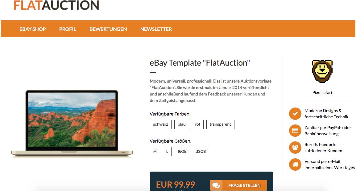 Ebay Template | Gunstige Ebay Templates Und Shop Designs Jetzt Sparen