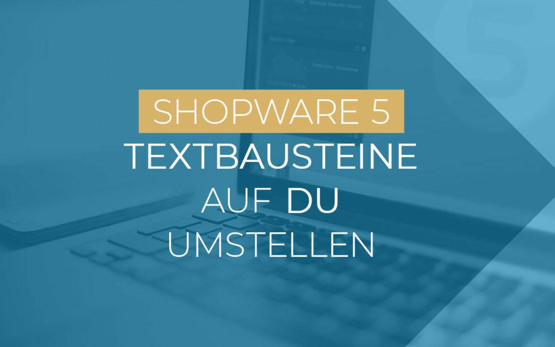 Kundenansprache DU im Shopware Shop