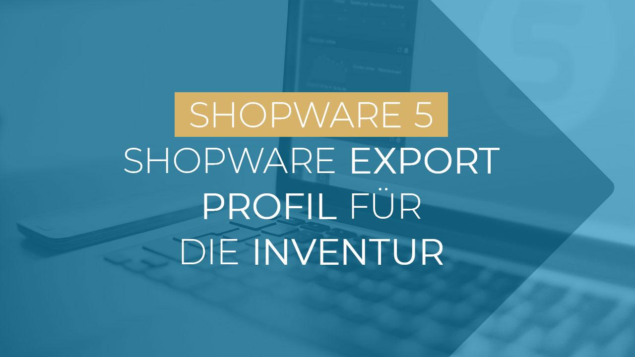 Shopware5 Export Profil Inventur